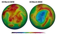 землей появилась новая гигантская озоновая дыра