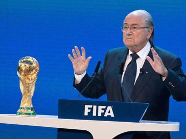 Зепп Блаттер (Sepp Blatter) приехал в Россию