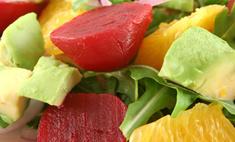 Свекольный салат с мандаринами