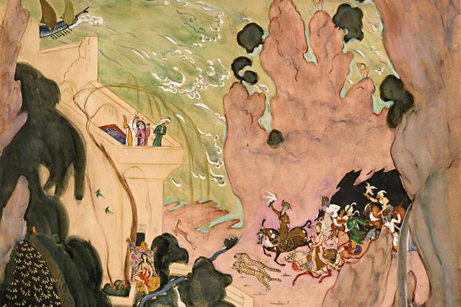 Валентин Серов. Эскиз занавеса для балета «Шехерезада». 1910-1911.