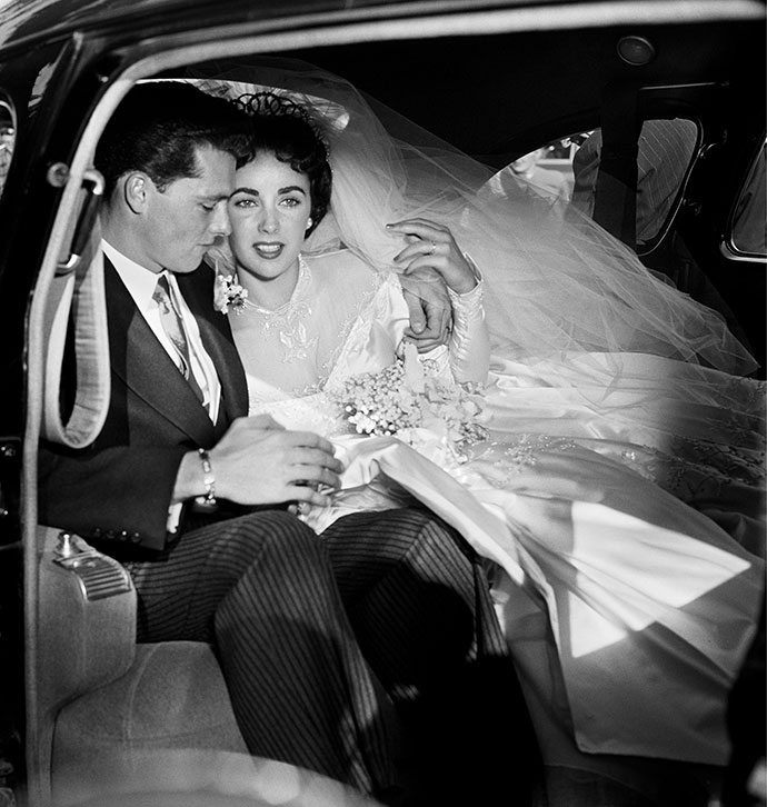Свадьба Элизабет Тейлор и Конрада Хилтона