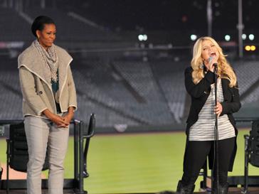 Мишель Обама (Michelle Obama) и Джессика Симпсон (Jessica Simpson)