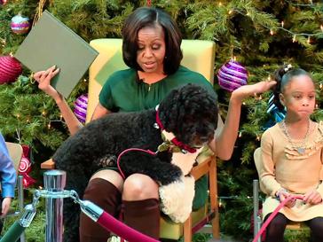 Мишель Обама и пес Бо