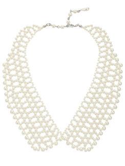 Жемчужное ожерелье в виде отложного воротника, TopShop