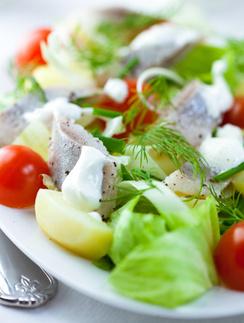 салат, сельдь, шведская кухня, рыбный салат