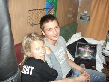 Сергей Лазарев и Ксения Собчак на гастролях