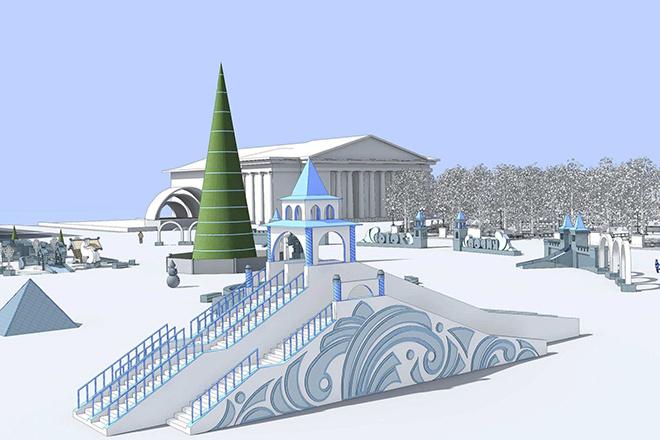 Оформление Театральной площади 2016