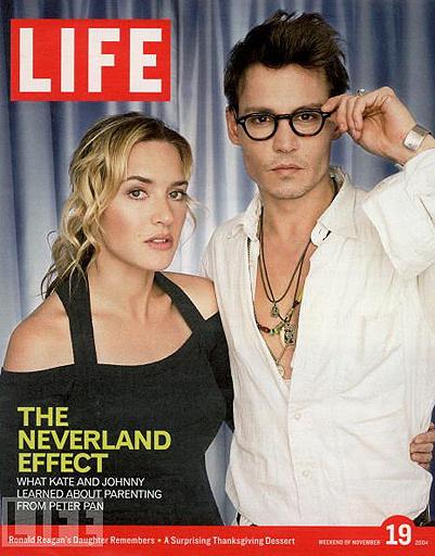 Кейт Уинслет и Джонни Депп украсили обложку LIFE в 2004 году