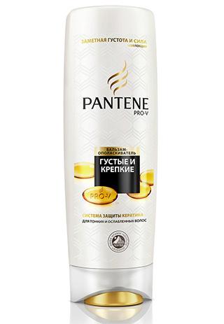 Кондиционер c витаминами B5 и B7 «Густые и крепкие», Pantene Pro-V