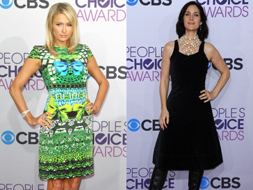Пэрис Хилтон (Paris Hilton) и Кэрри-Энн Мосс (Carrie-Anne Moss) на People's Choice Awards 2013