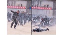Военный остался без пары на выступлениях по рукопашному бою, но и в одиночку умело провел прием (видео)