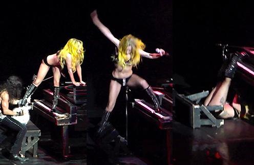 Леди ГаГа (Lady GaGa) упала