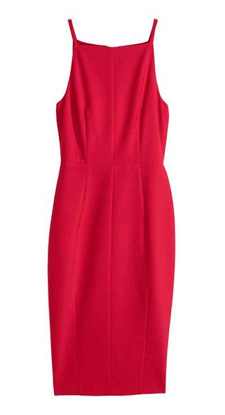 Красное платье H&M, фото