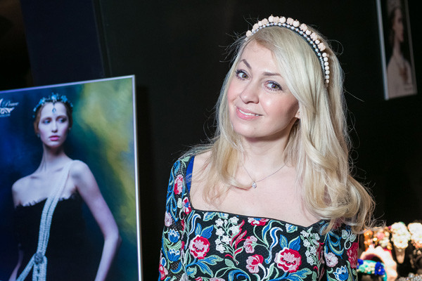 Яна Рудковская на презентации Masterpeace
