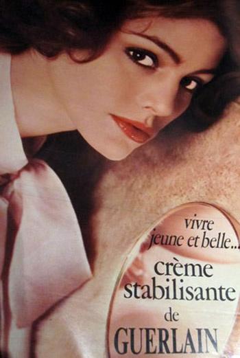 Рекламная кампания косметических средств марки Guerlain. 1975 год.