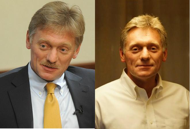 Дмитрий Песков на спор сбрил усы