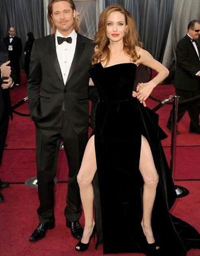 Фотокарикатура Анджелины Джоли с Брэдом Питтом