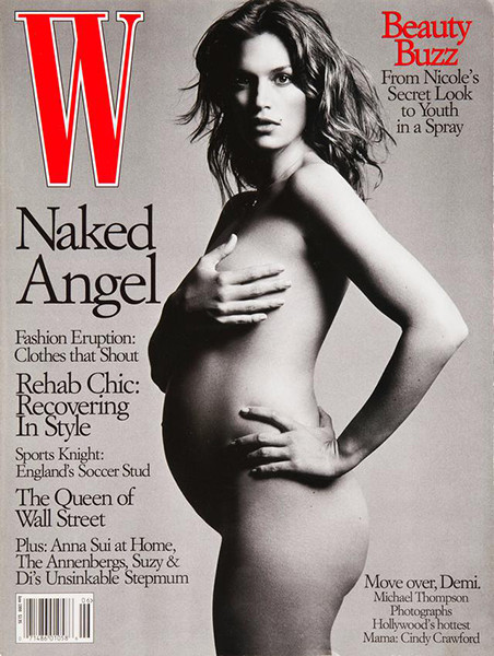 беременные звезды на обложках глянца Деми Мур