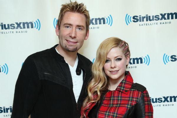 Лидер группы Nickelback и певица Аврил Лавин - пока еще супруги...