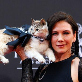 Актриса сериала «Молодые и дерзкие» Стэйси Хайдук приехала на вручение премии со своим котом. В ежедневной мыльной опере Хайдук играет эксцентричную Мэри Джейн Бенсон