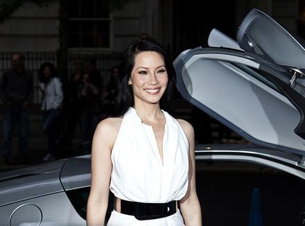 Люси Лью (Lucy Liu) на вечере в честь партнерства MAMM и Volkswagen, Нью-Йорк, 2014 г.