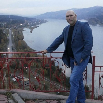 Николай Валуев на смотровой площадке