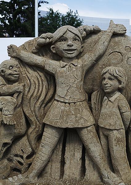 Скульптуры из песка, День города