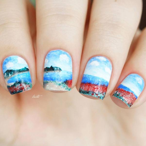 шедевры живописи на ногтях