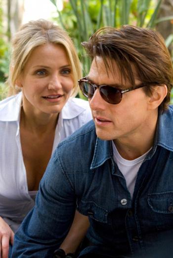 Кадр из нового фильма с участием Камерон Диас «Рыцарь дня», партнером по которому стал Том Круз.