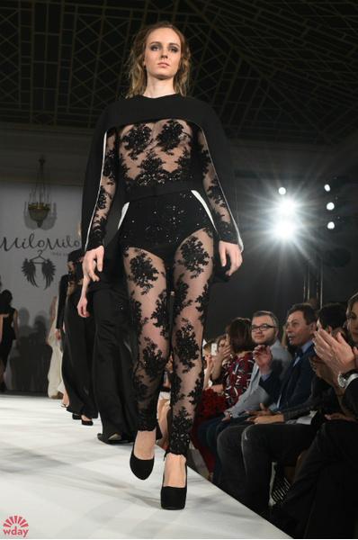 Модель на показе новой коллекции Мнны Жирковой: фото
