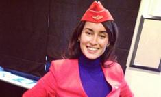 Тина Канделаки примерила костюм стюардессы