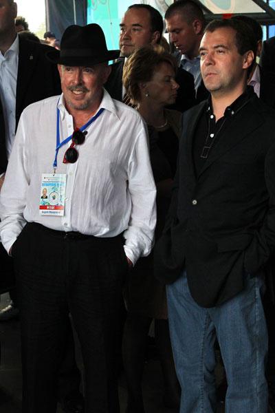 Дмитрий Медведев и Андрей Макаревич