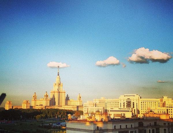 Вид из окна Алены Водонаевой