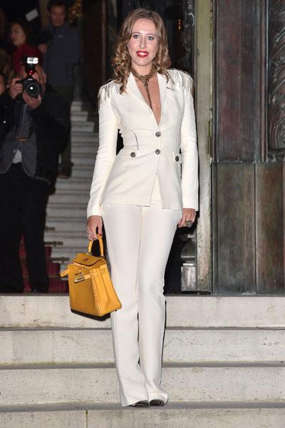 Ксения Собчак на показе Versace весна-2015