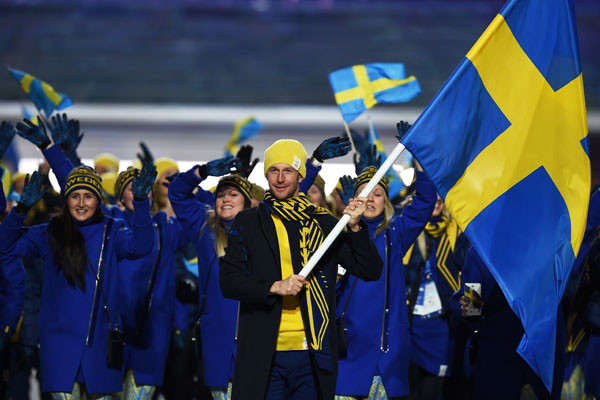 Сборная Швеции в форме H&M