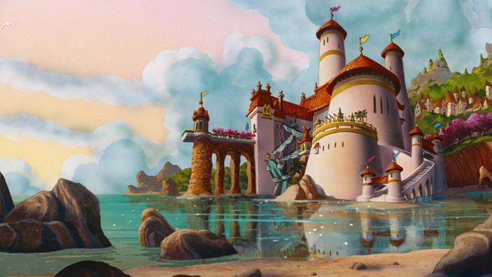 Замок Эрика из мультфильма «Русалочка»