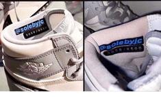 В Китае подделали кроссовки Dior x Nike Air Jordan по слитой в Инстаграм фотографии, приняв водяной знак за часть дизайна (фото и видео)