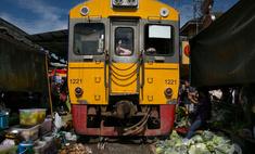 рынок таиланде день проезжает поезд фото видео