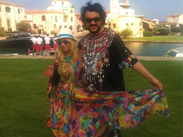 Яна Рудковская и Филипп Киркоров на Сардинии