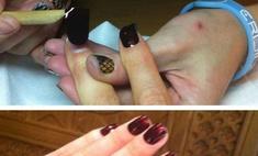 Необычный маникюр: Глюк'оZa выбрала наклейки для ногтей