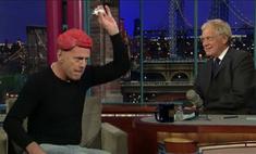 Брюс Уиллис пришел на телешоу в парике из сырого мяса