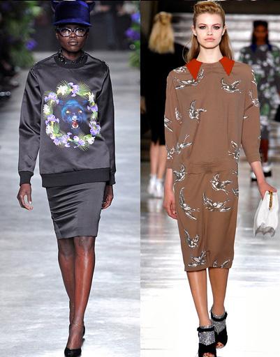 Givenchy и Miu_Miu, осень-зима 2011/2012