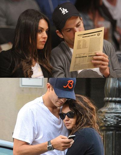 Мила Кунис (Mila Kunis) и Эштон Катчер (Ashton Kutcher)