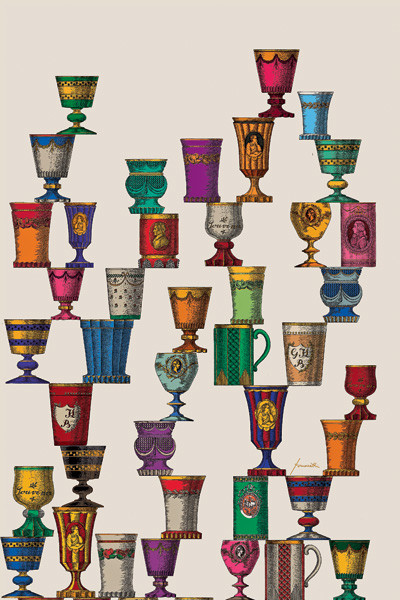 Некоторые производители предусматривают для одного сюжета несколько колористических решений. Панно Boemia by Fornasetti из коллекции Classix II (Cole & Son). От 11400 руб.