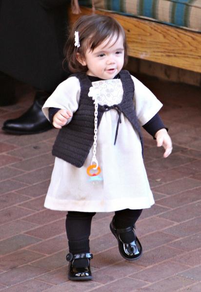 Дочь актрисы, малышка Валентина (ей полтора года)