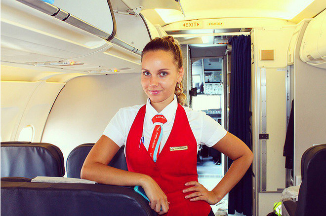 Анастасия Байтулина, стюардесса, фото