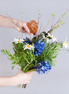 Пасха, букет, праздничный декор, флористика, составление букета, Флорист.ру, украшение стола, праздничный стол, пасхальный стол, цветы, пасхальные яйца, мастер-класс
