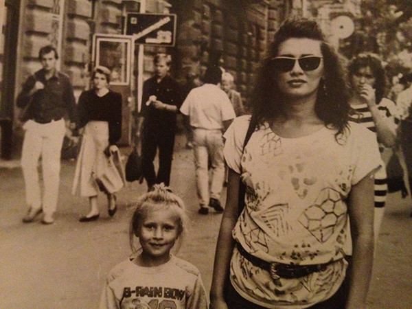 Элина Камирен, дочь, фото