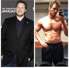 Как худеют мужчины: Крис Пратт и еще 7 актеров, ставшие вдвое тоньше