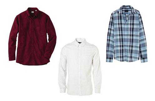 Фланелевая рубашка Uniqlo, рубашка в тонкую полоску Topman, клетчатая рубашка Massimo Dutti